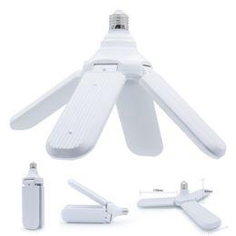 piccoli pulsanti di commutazione Sconti 110-265V E27 Lampadina a LED pieghevole Lampadina a ventola Lampadina 30W 45W 60W Lampada a LED bianco super luminoso 6500K per plafoniera per interni