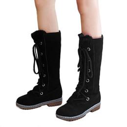 YOUYEDIAN Femmes Bottes En Daim Bout Rond Lacets Bottes Femmes Sabot Chaud Chaud Chaussures Plates Garder Au Chaud Moyen Tube Bottes De Neige # p30 ? partir de fabricateur