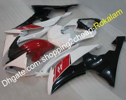 kit de carenagem r6 preto branco Desconto Para Yamaha YZF600 R6 YZF-R6 2008 2009 2010 2011 2012 2013 2014 2015 2016 YZFR6 Red Black White Carenagem Kit (moldagem por injeção)