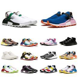 36-47 NMD Sendero de la raza humana Zapatillas de running Hombre Mujer Pharrell Williams HU Runner Amarillo Negro Blanco Rojo Verde Gris azul sport runner sneaker desde fabricantes