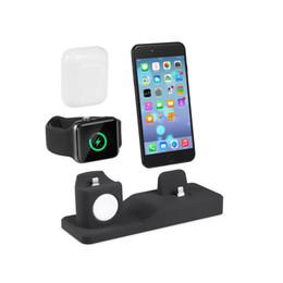 Bluetooth-гарнитура для телефонов с часами онлайн-Настольная линия зарядки отделка силиконовая зарядная подставка для телефона настроена для смарт-часов телефона и беспроводной Bluetooth-гарнитуры