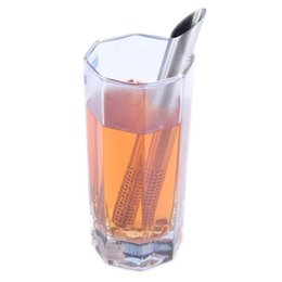 Argentina Filtro de acero inoxidable Palitos de té Palitos de té Coladores de colador Tubo de té oblicuo Tubo Infusor Herramientas de cocina más empinadas Suministro