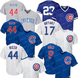 Kyle schwarber online-Camisetas de Chicago Cachorros 9 Javier Baez 44 Anthony Rizzo 22 Jason Heyward 17 Kris Bryant 12 Kyle Schwarber 23 Ryne Sandberg