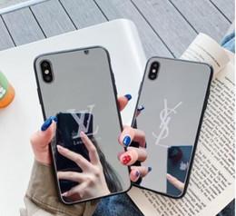 Espelhos móveis on-line-19ss novo designer marca espelho caso de telefone móvel para o iphone x xr xs max 6 6 s 7 8 além de luxo à prova de choque capa a05