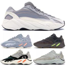 san francisco f7960 b18d4 Scarpe da corsa di 700 Wave Runner Scarpe da corsa di Kanye West 700 V2  grigio malva solido Uomo Donna Sneakers sportive con scatola di dimensioni  36-46 ...