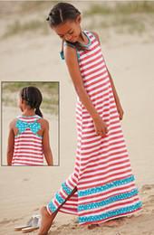 chicas 11 12 años Rebajas 6-12 años Niñas bebés Dreess niños Vestido a rayas Vestido de encaje elástico Vestido de verano para niños Ropa de marca