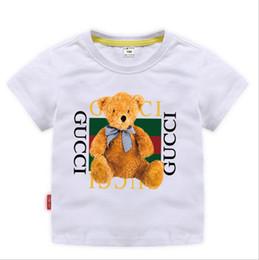 2020 camisas de verão para meninas 2019 Novo Designer Marca 2-8 T Anos de Idade Do Bebê Meninos Meninas Camisetas Camisa de Verão Tops Crianças Tees Crianças camisas de Roupas camisas de verão para meninas barato