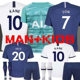 Camisetas de portero de fútbol niños online-19 20 KANE NDOMBELE Soccer Jersey 2019 2020 LUCAS SPURS ERIKSEN DELE SON TOTTENHAM camiseta de fútbol Kit de hombres y portero de KIDS