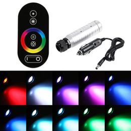 éclairage en plastique à fibres optiques Promotion Kit de plafond en fibre de verre optique en plastique DC12V 6W RVB LED en étoile 100pcs / 150pcs / 200pcs 0.75mm + 2 lumières tactiles à distance