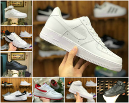 2019 Alta qualità Nuove forze classiche Classiche All High and low White black Wheat uomo donna Sport Running Shoes Forcing sneakers da skate da scarpe di grano fornitori