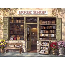 2019 livros de pinturas a óleo Pinturas a óleo de alta qualidade reprodução Livraria francês street scapes art Pintados à mão livros de pinturas a óleo barato