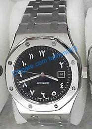 2019 reloj de numerales arábigos 8 colores Reloj de roble real de 3 clavijas hombres Números arábigos antiguos 41 mm atrás abierto Maquinaria automática Relojes de barrido de acero inoxidable reloj de numerales arábigos baratos