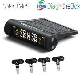neuer citroen c4 Rabatt Förderung Auto TPMS Solar Auto Reifendruck-Erkennungssystem im Inneren Digital LCD Monitor Auto Autos Sicherheit Alarm System gebaut