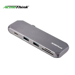 2019 accesorios de aluminio de china AcmeThink USB Tipo C Hub a lector de tarjetas Tipo C Hub 3.0 Splitter Adapter TF Lector de tarjetas Micro SD para Macbook pro