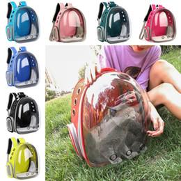 Cane trasportano borse zaini online-Zaino trasparente per animali domestici Gatti per gatti per animali domestici che trasportano borse per esterni Borsa per gatti Borsa per animali Zaino trasparente per animali