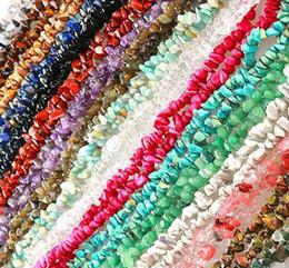 2019 natürliche granat perlenkette Eine Schnur 5-8mm Natürliches Tigerauge Türkis Granat Stein Perlen Freeform Chip Lose Kies Perlen Für Schmuck Machen Halskette Armband günstig natürliche granat perlenkette