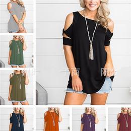 6b43cd1dd25 Sans bretelles T Chemises Couleur Unie Kink Col Rond Manches Courtes  Chemise Tops Outwear Femmes Eté Loisirs Maison Vêtements 22sw E1