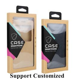 kraft telefonzelle Rabatt Logo anpassung für telefon case paket box mit hang hole universal phone case kraftpapier box für huawei p30 p30 pro p30 lite case