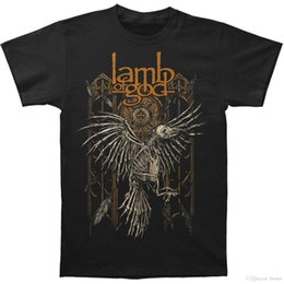 Camicia di agnello online-T-shirt da uomo Lamb Of God Crow nera