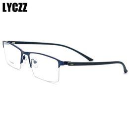 b941ccdca8 2019 gafas de titanio LYCZZ TR90 Marco de gafas ópticas Ultra ultraligero  cuadrado de los hombres