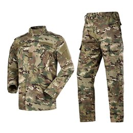 Männliche Tarnung Kampf Sets Tactical Shirt + Hosen Camo ACU FG Kampf Uniform US Männer Multicam Anzüge Kleidung von Fabrikanten