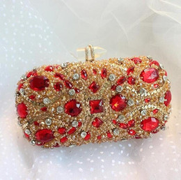 Женщины Кристалл партии сумки шипованных ювелирным сцепления Свадебные кошелек Роскошные Алмазные Вечерние сумки Lady Gold сцепления от