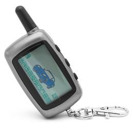 A9 alarm online-Freies Verschiffen Zweiwegautowarnungssystem Starline Twage A9 Russische Version LCD Remote Auto Alarms Engine Starter
