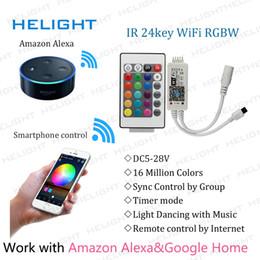 Controlador de tira LED Wifi RGB / RGBW + IR de 24 teclas Por Amazon Alexa Google Home Phone Controlador de música WIFI para 5050 3528 RGB Strip desde fabricantes