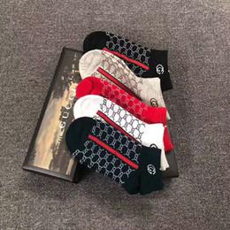 Gc Logo Silber Faden Socken Mode Marke atmungsaktive Sport Casual Socken für Frauen Mädchen Outdoor athletische Strümpfe 5pairs / Geschenkbox von Fabrikanten