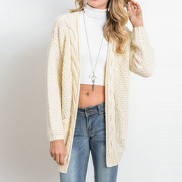 e9f88c0392 VERTVIE 2018 Brand New Women Casual Cardigan Long Sleeves Knitted Sweater  Womens Sweaters Fashion Solid Jersey Mujer