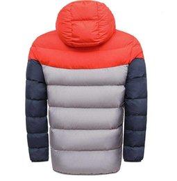 2019 felpa con cappuccio anatra coreana  Professionali uomini giacca a vento invernale di distribuzione e le donne abbigliamento sportivo di alta qualità in tessuto impermeabile giacca sportiva chiusura lampo del cappuccio moda maschile