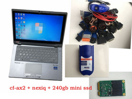 Scanner nexiq on-line-NEXIQ Auto Pesado Truck Scanner ferramenta NEXIQ USB Link Nexiq 125032 Ligação USB soft-ware com laptop cf-ax2 toque pc cabos