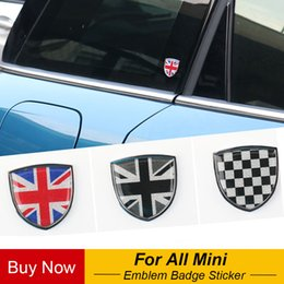 adesivo mini emblema del bottaio Sconti Auto metallo distintivo dell'emblema decalcomanie Per decorativo Mini Cooper JCW Clubman One Countryman R60 F55 F60 Car Styling Accessori