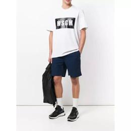 trend tees Sconti Mens Designer T Shirt Trend Lettera MSGM Tees Casual Stampa Manica corta Cime allentate Moda per le donne Coppia 2019 Estate New 9 Stili