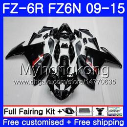 schwarze fz6r verkleidung Rabatt Körper für YAMAHA FZ6N FZ6 R FZ 6N FZ6R 09 10 11 12 13 14 15 239HM.1 FZ-6R FZ 6R Glänzend schwarz HEISS 2009 2010 2012 2013 Verkleidungen