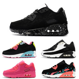 2019 chaussures de basket kobe elite Nike air max 90 Vente Pas Cher Enfants Sneakers Presto 90 Chaussure Sport Enfants Chaussures Pour Enfants Baskets Infant Filles Garçons Running Chaussures Taille 28-35