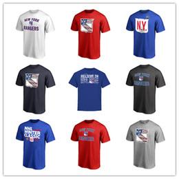2019 нью-йорк печатные футболки 18 19 New York Rangers Футболки Хоккейные майки Белый Черный Синий Серый Дизайнерская спортивная майка Бесплатная доставка Поклонники Топы мужские футболки с логотипом дешево нью-йорк печатные футболки