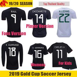 0cea102ae 2019 Fans   Player Version Mexico Jersey RAUL CHICHARITO Soccer Jerseys  H.LOZANO Football Shirt CARLOS V Long Jersey Mens Womens Mexico Kids