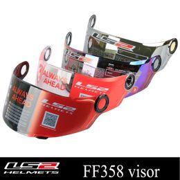 Gläser online-LS2 Global Store Original LS2 FF358 Vollvisier für Motorradhelme Mehrfarbig vergoldete Antibeschlagbrille