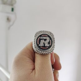 anillos grises de la taza Rebajas 2018 bolso de cuero de moda caliente Ottawa Redblacks 2016 CFL 104a taza gris Campeonato anillo de campeonato bolsas accesorios al por mayor