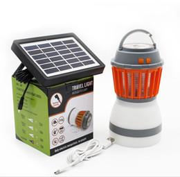 la goccia d'acqua ha portato le luci di notte Sconti Zanzara solare Zapper Camping Lanterna Tenda luce insetto Killer LED multifunzionale luci impermeabile e USB ricaricabile Mosquito killer