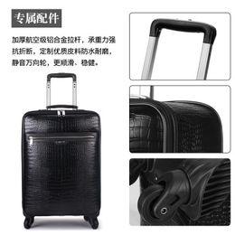 2019 grano laminato CARRYLOVE antiusura coccodrillo business16 / 18/20/22 Inch Rolling Luggage Spinner marca Travel Suitcase sconti grano laminato