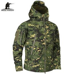 Marcas de roupas militares on-line-Mege Marca Outono dos homens Jaqueta de Lã Militar Do Exército Roupas Tático Multicam Camuflagem Masculino Jaquetas C19041303