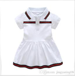2019 vestidos geométricos del boutique El nuevo vestido de bebé más vendido de verano 2019 solapa de algodón ropa de bebé recién nacido 9 meses vestido de 3 años