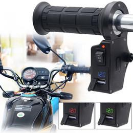 cargador de teléfono celular de la motocicleta Rebajas 3en1 manillar de la motocicleta eléctrica caliente climatizada Grips USB Voltaje manija manijas pantalla del teléfono celular cargador Tensión de carga