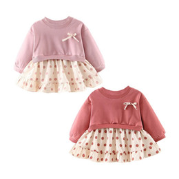 80fcb2713a8 Baby Kids Girl Dresses Spring Chidlren Clothes Toddler girl Dress Baby  Cotton Polka Dot Long Sleeve Princess DressY