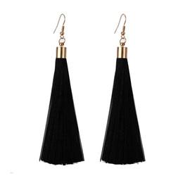 Deutschland Legierung Quaste kurze Ohrringe Frauen lange Quaste Anhänger Ohrringe Mädchen elegante intellektuelle Valentinstag Geschenke cheap alloy tassel Versorgung