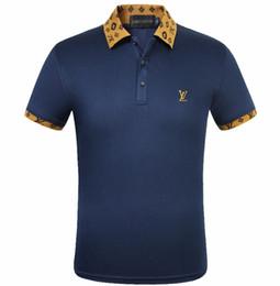 Argentina Polos de alta calidad para la decoración de la marca Para hombre Polo Classic Brand Polo Shirt Gold L Signo diseño de bordado 100% algodón Business Casual Polo Vestir supplier mens gold polo Suministro