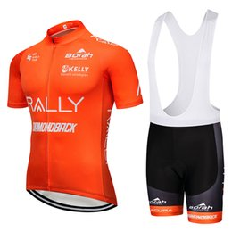 Argentina UCI 2019 Pro Team Men's Summer Ciclismo de color naranja conjunto de ropa Ciclismo Manga corta cuesta abajo Bicicleta Ropa 9D gel pad babero shorts kit Suministro
