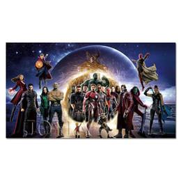 2019 maravilha posters Poster super heróis Quadrinhos Filme Prints seda Wall Art Imagem Início Room Decor Marvel Superhero Silk Cloth Pintura desconto maravilha posters